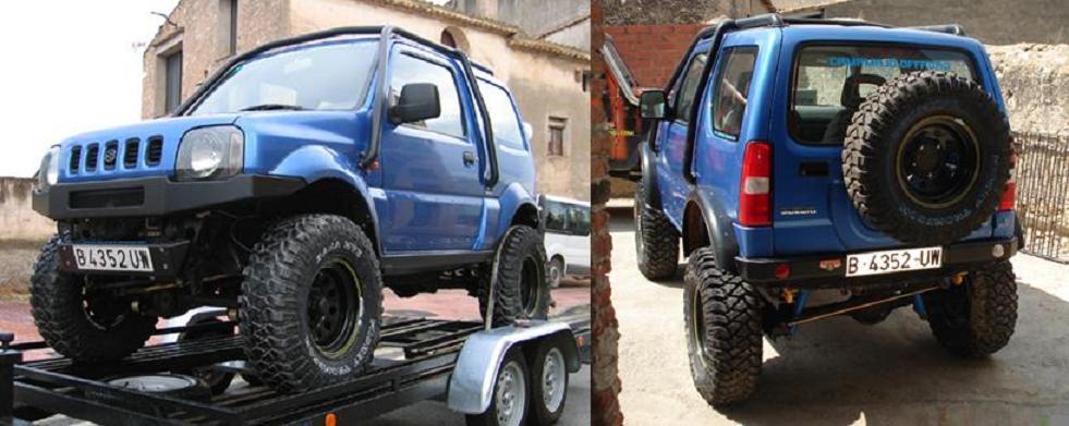 Аккуратный силовой бампер на Suzuki Jimny