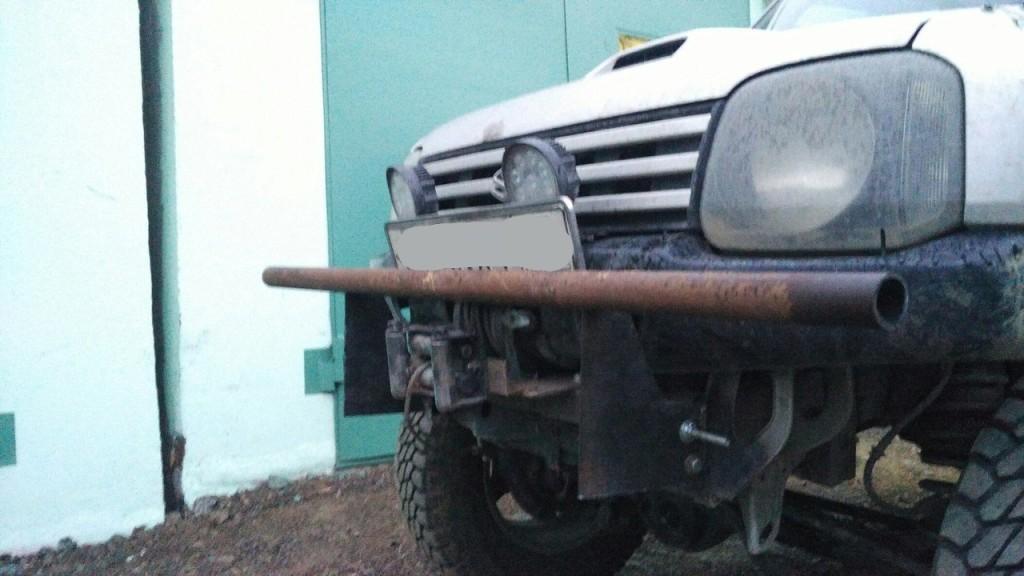 защита переднего бампера Jimny Apio