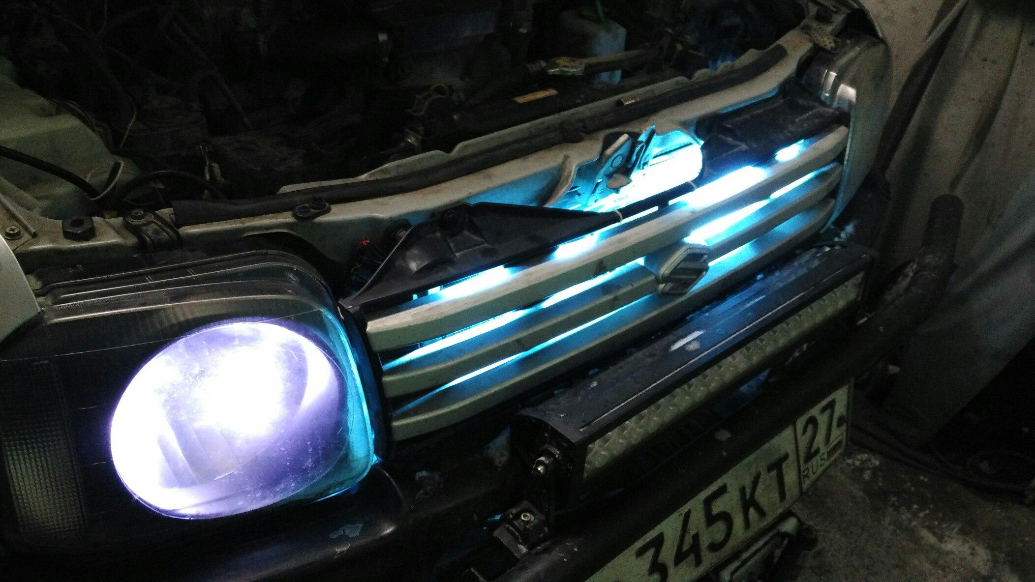 подсветка решетки радиатора jimny